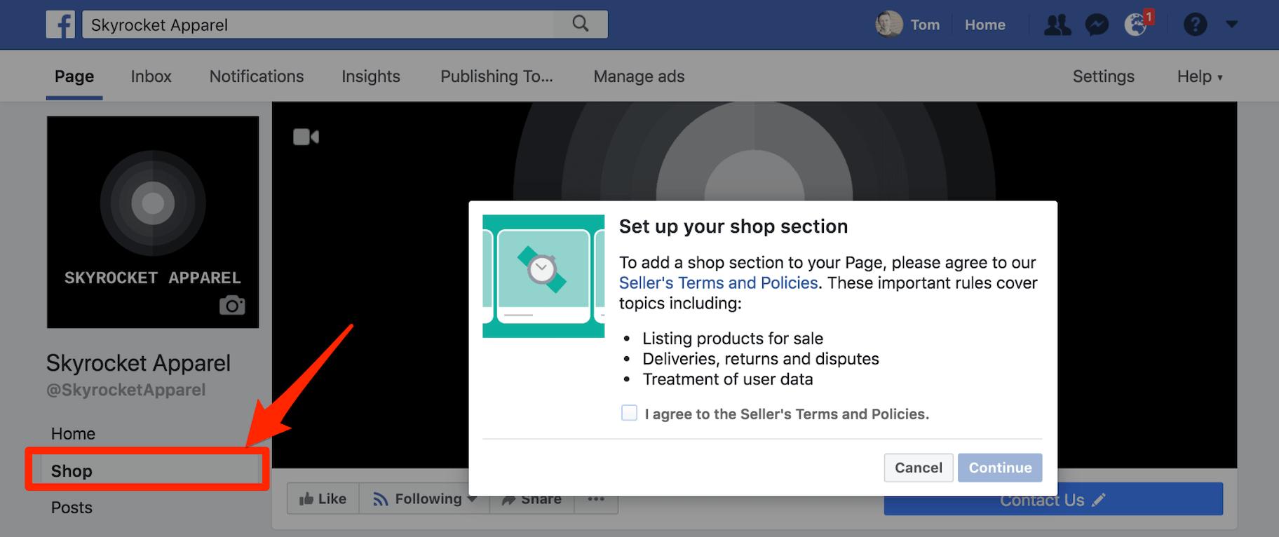 Set Up Facebook Shop