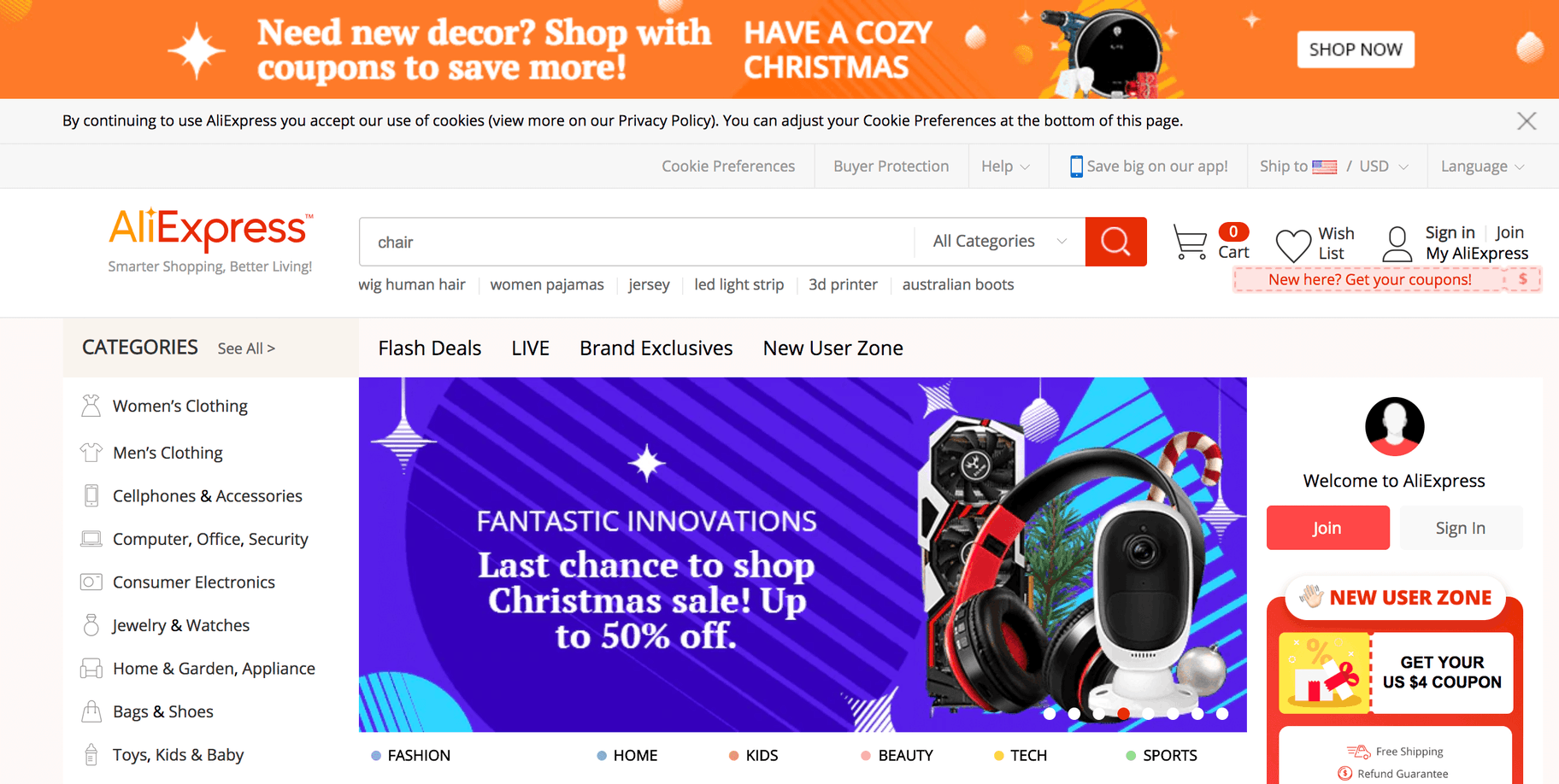 Popular Ecommerce Websites - Aliexpress