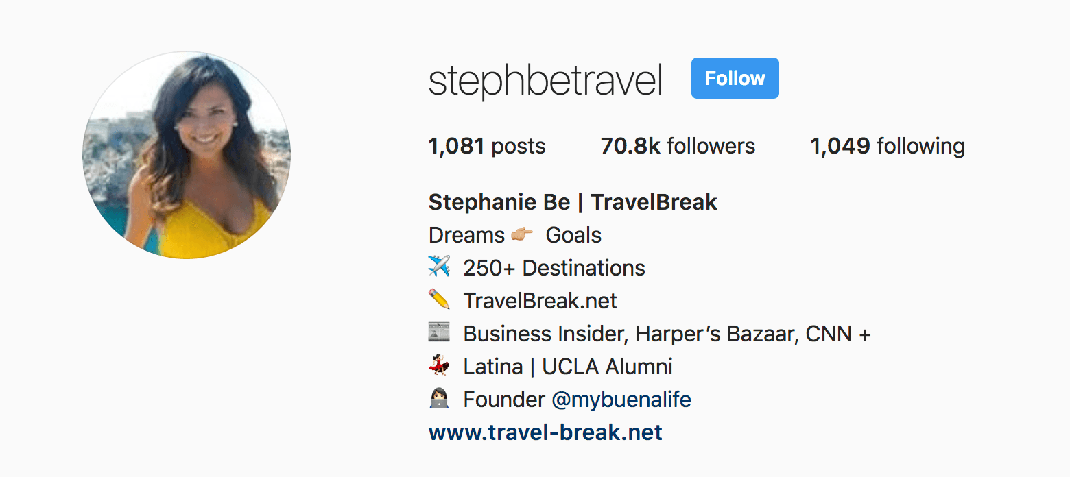 Travel Bio for Instagram