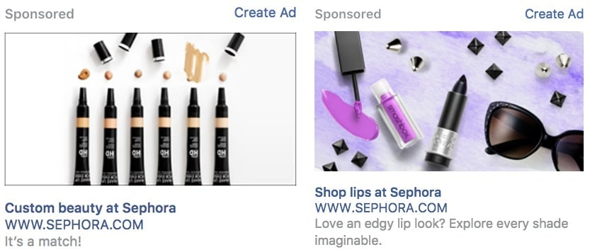 Sephora - Best Facebook Ads