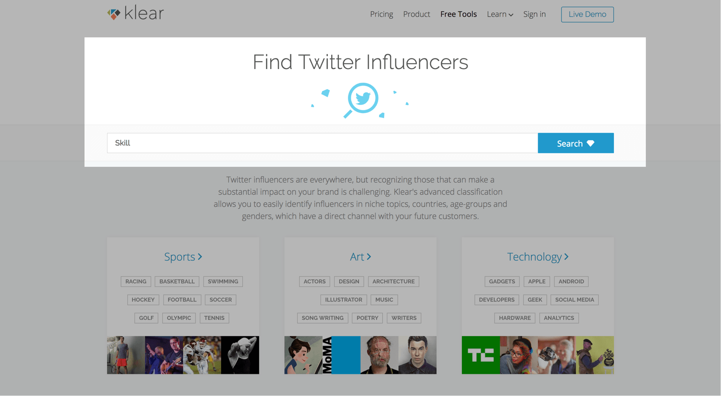 klear twitter influencer review