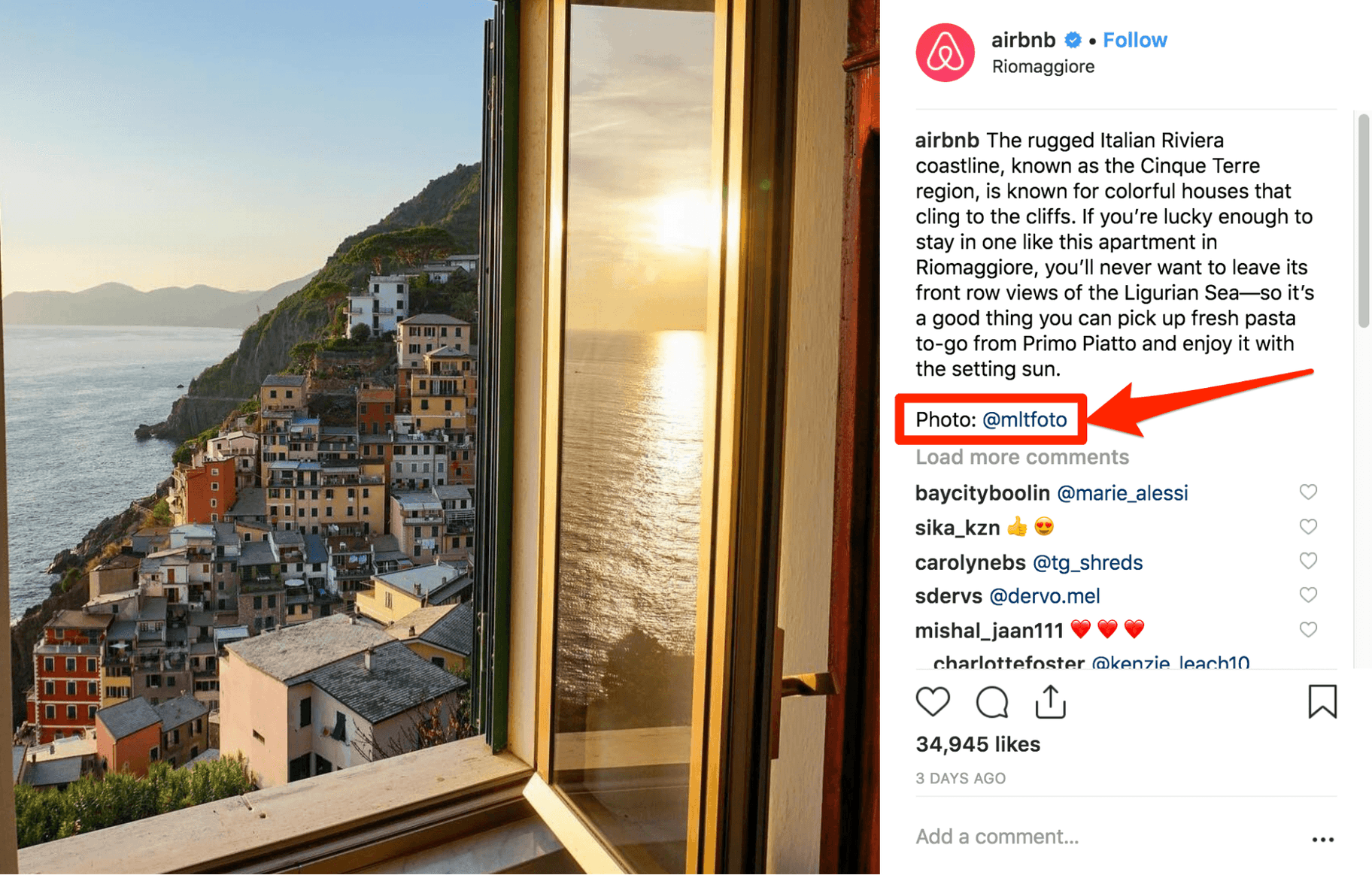 AirBNB Instagram Post