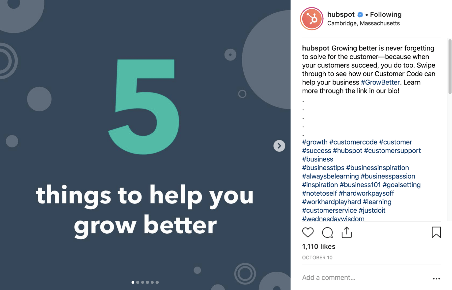 Hubspot Instagram Post