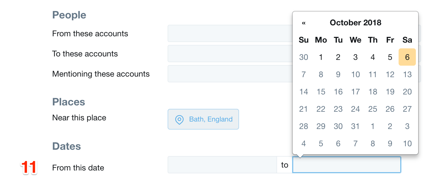 Twitter Advanced Search Dates