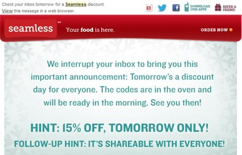 incentivize customers to buy via email