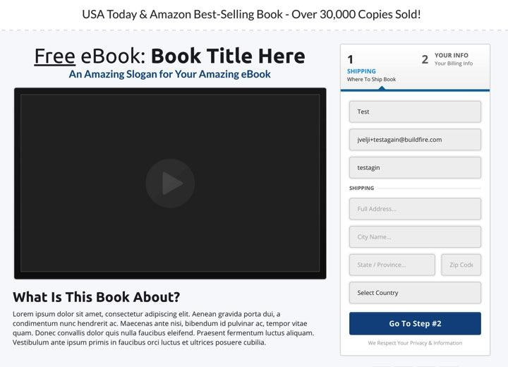 shipping book funnel