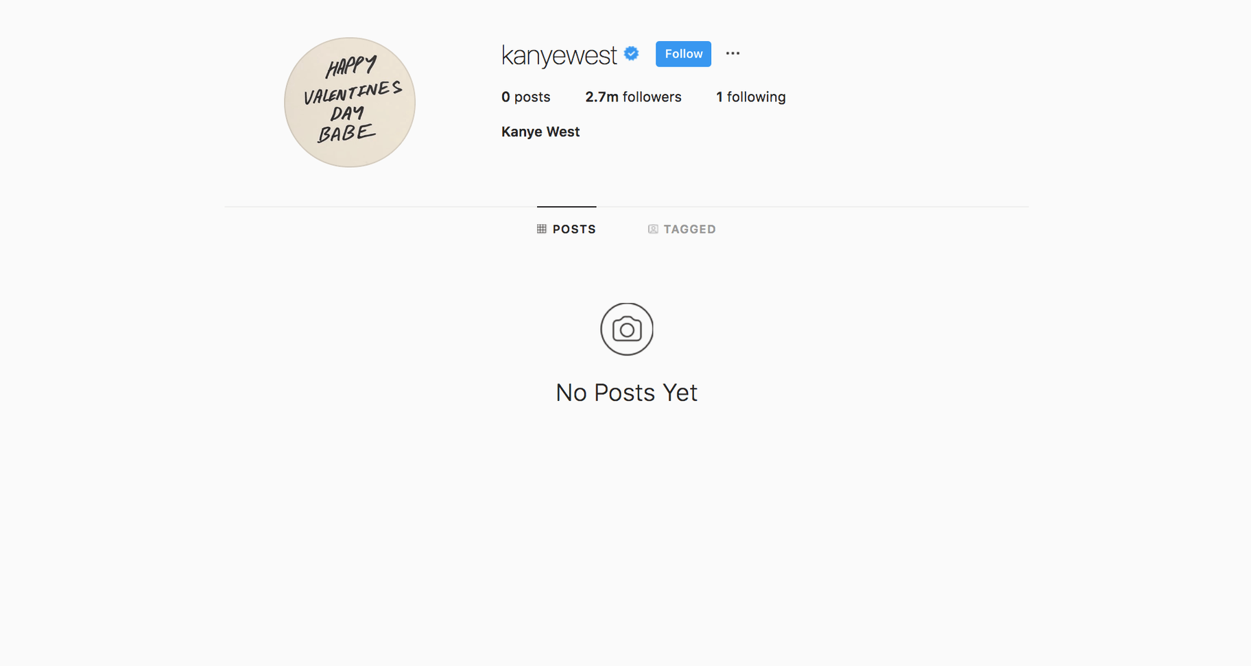 kanyewest insta verified blue tick