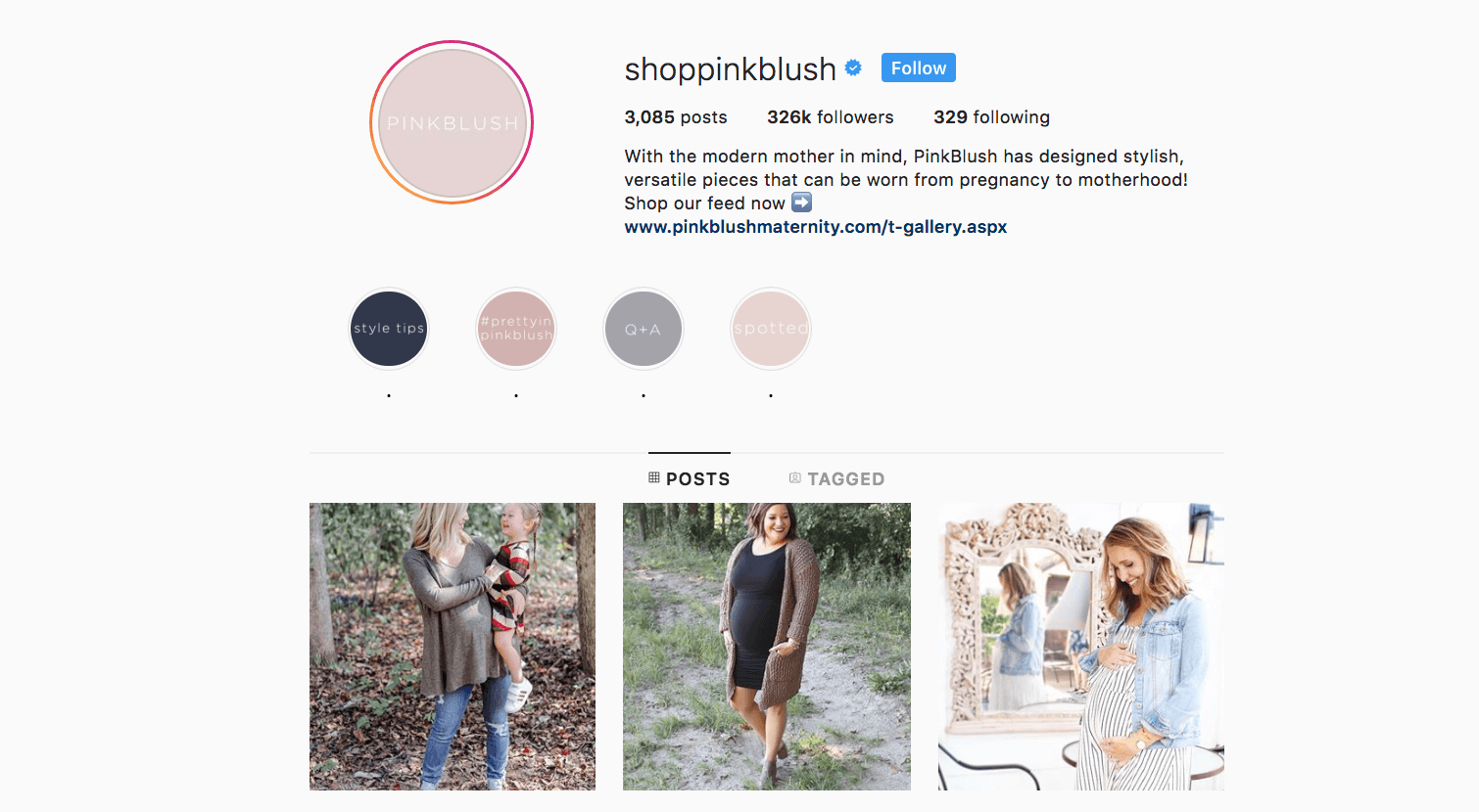 shoppinkblush verified on instagram