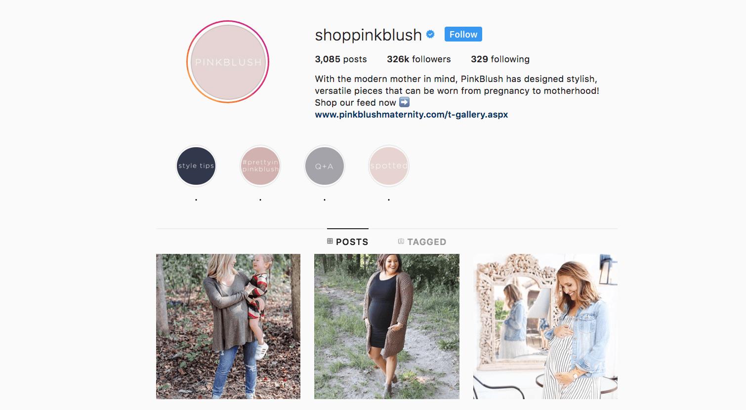 shoppinkblush verified on instagram