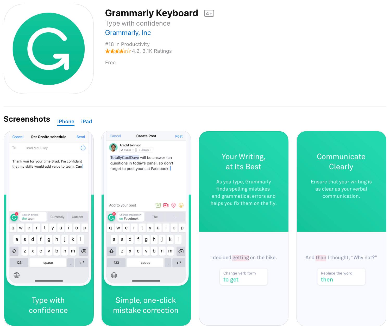 Marketing Apps Grammarly