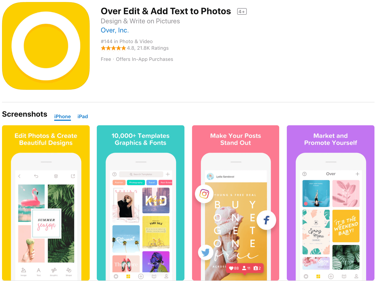 Marketing Apps Over