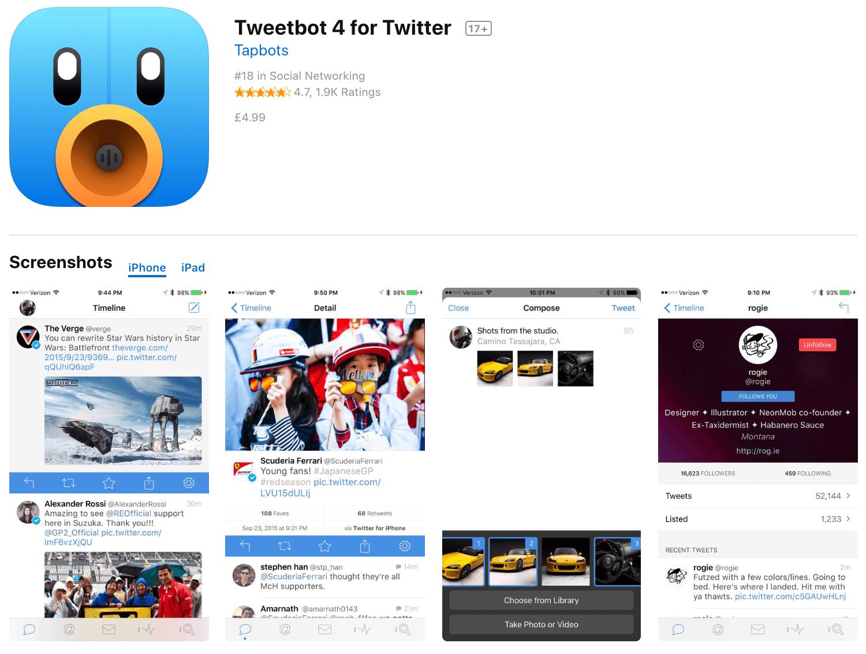 Marketing Apps Tweetbot