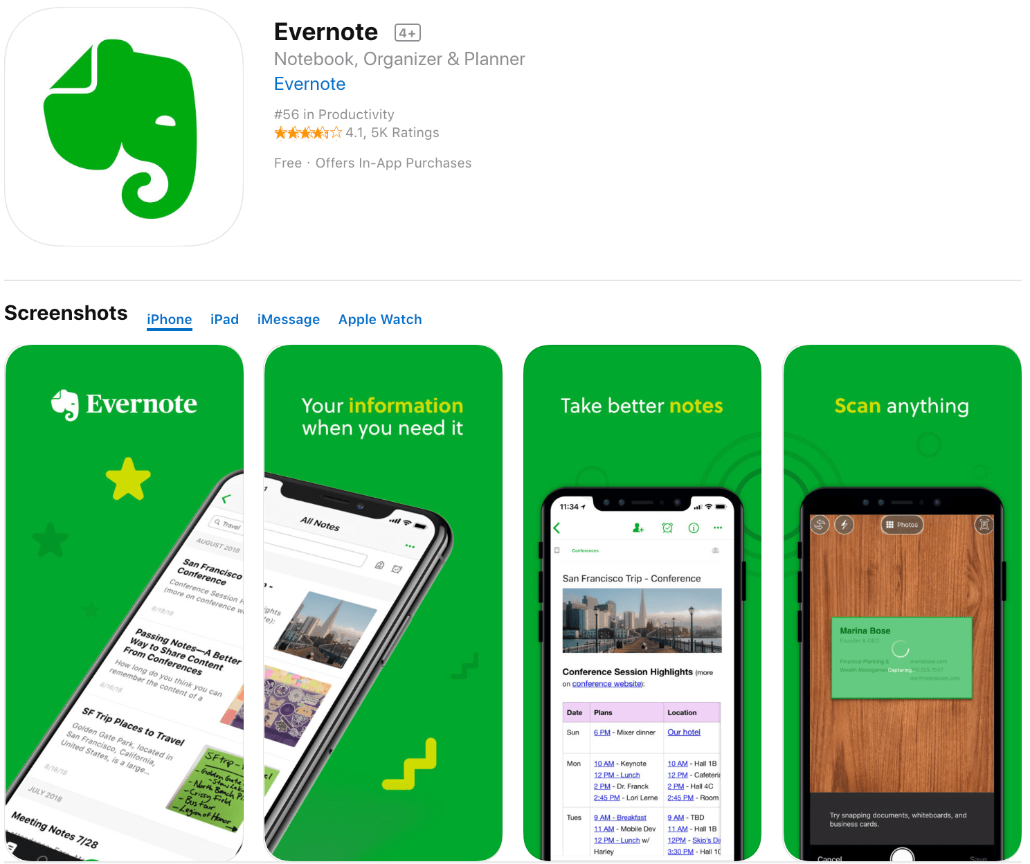 Marketing Apps Evernote