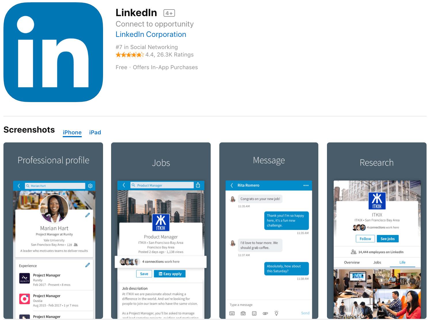 Marketing Apps LinkedIn