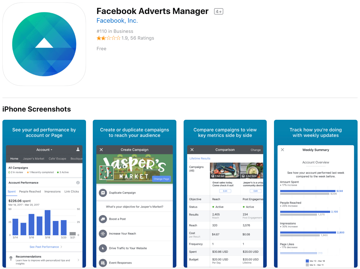 Marketing Apps Facebook Ads Manager