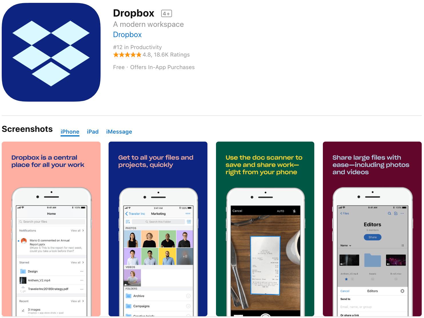 Marketing Apps Dropbox