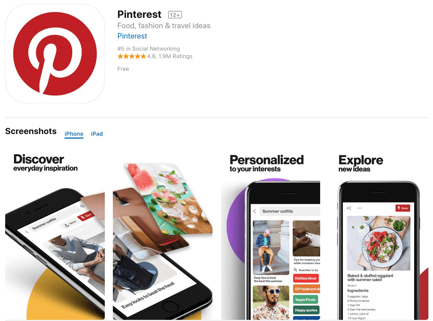 Marketing Apps Pinterest