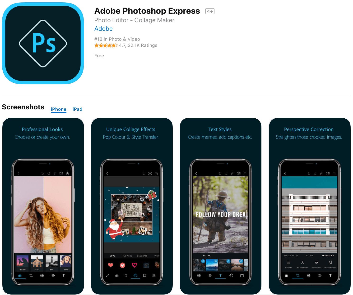 Marketing Apps Photoshop Express