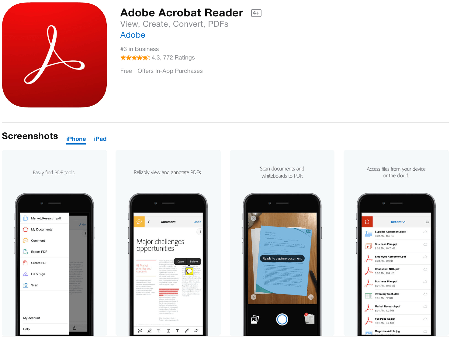 Marketing Apps Adobe Acrobat Reader