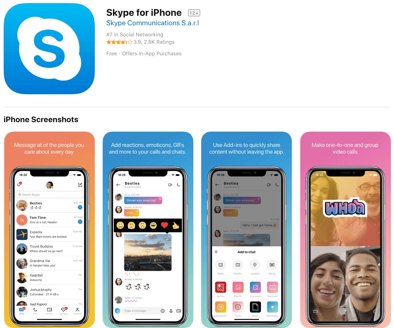 Marketing Apps Skype