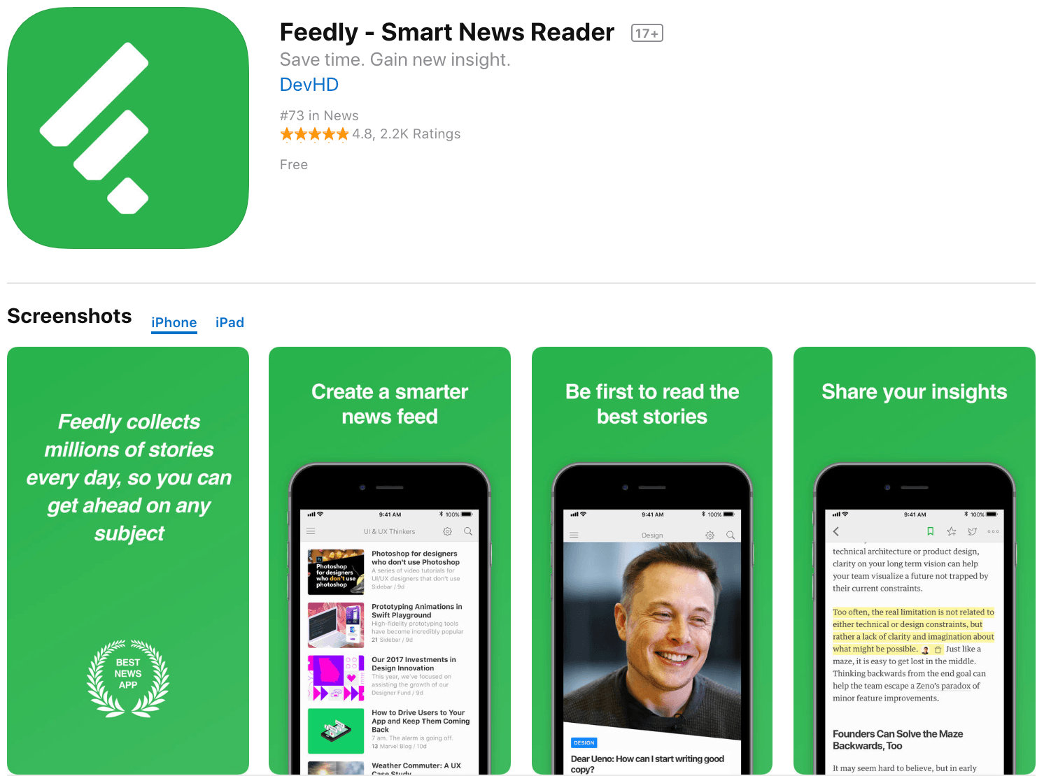 Marketing Apps Feedly