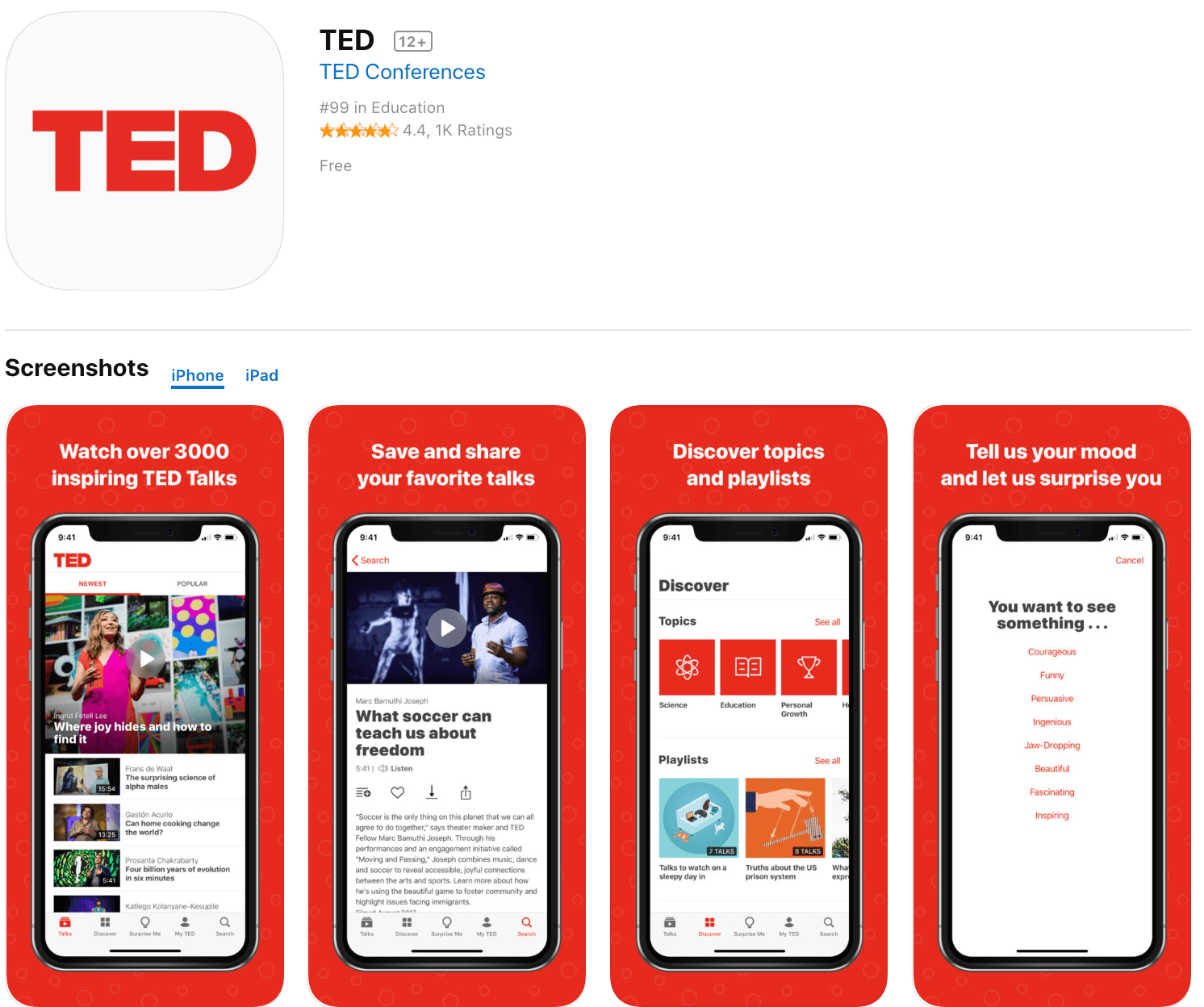 Marketing Apps TED