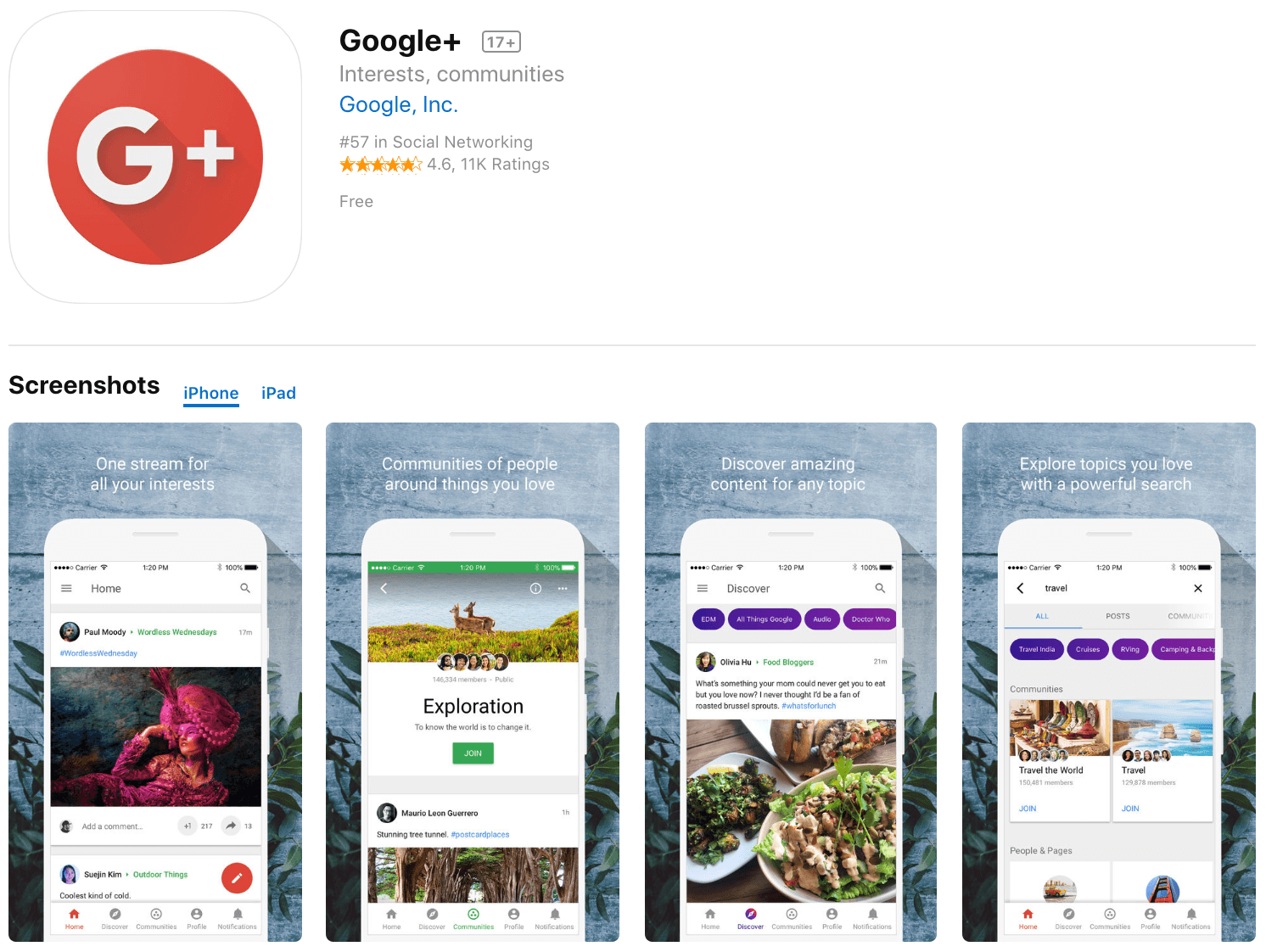 Marketing Apps Google+