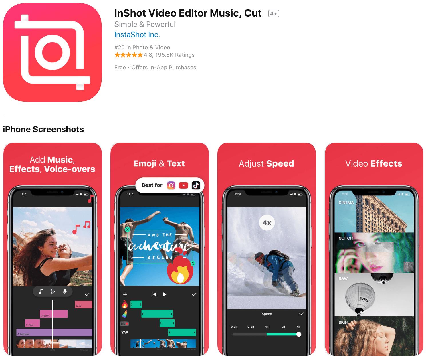Marketing Apps InShot