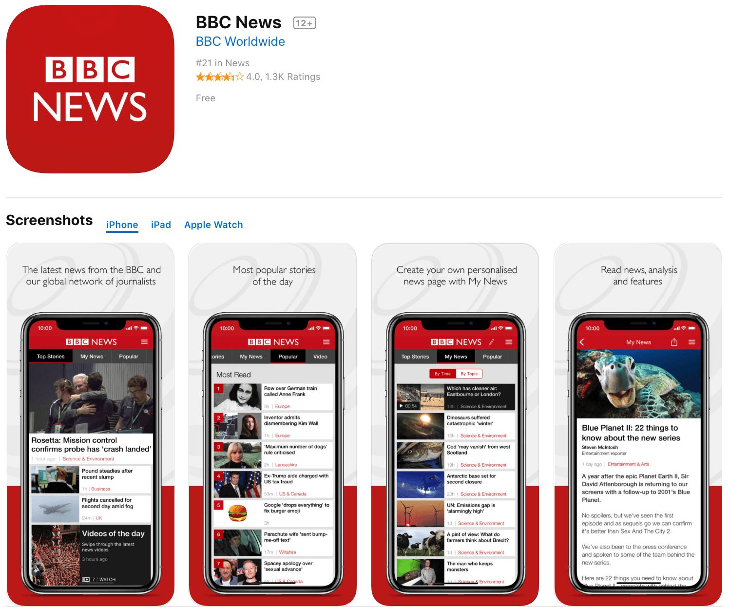 Marketing Apps BBC News