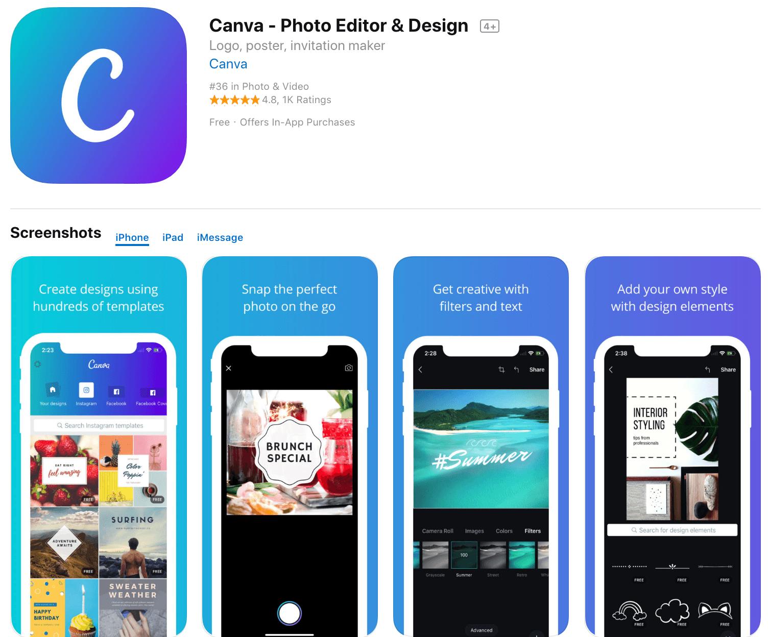 Marketing Apps Canva