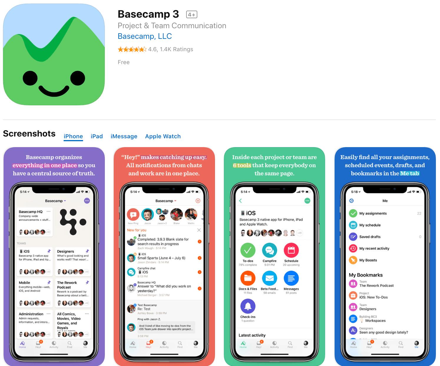 Marketing Apps Basecamp 3
