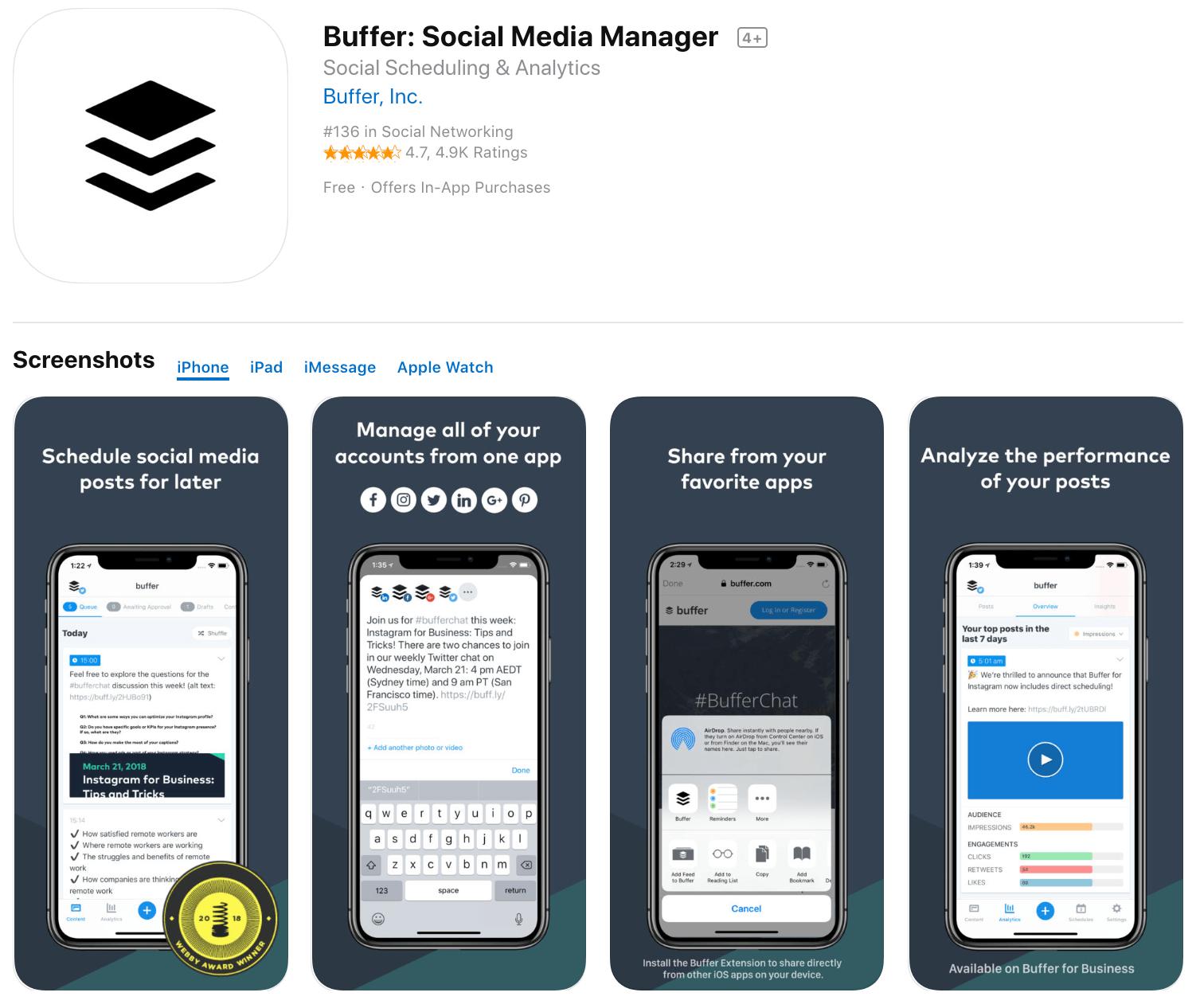 Marketing Apps Buffer