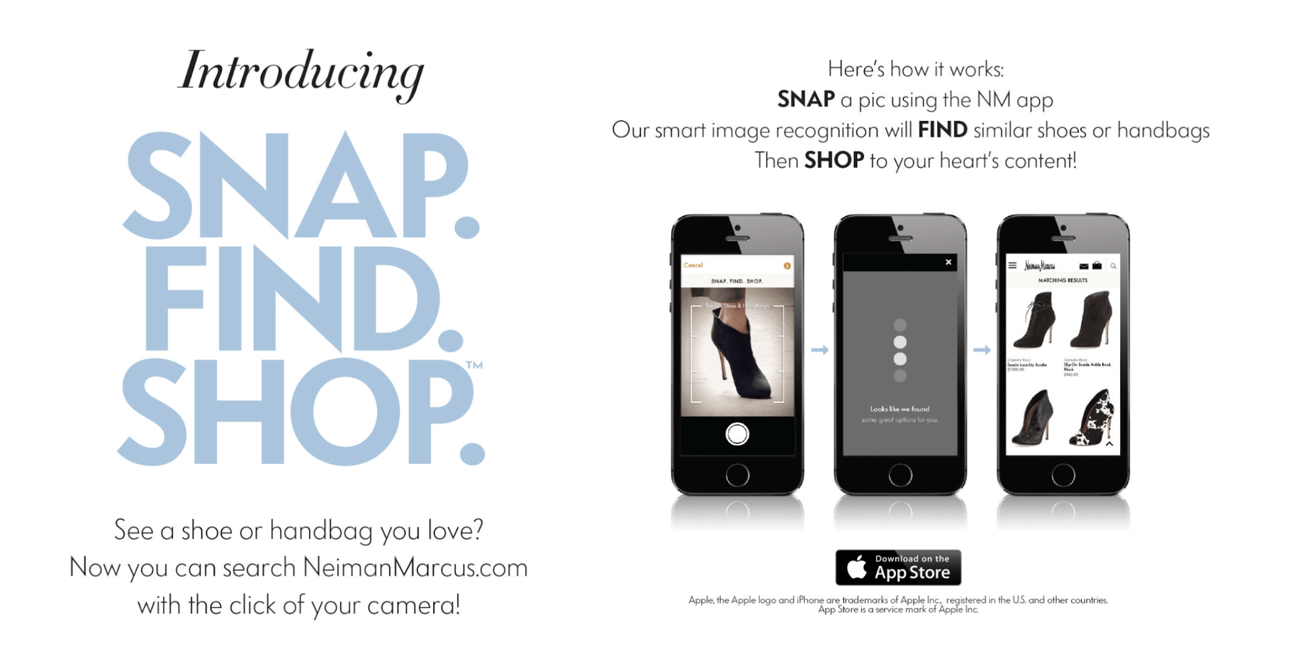 Neiman Marcus Snap Find Shop