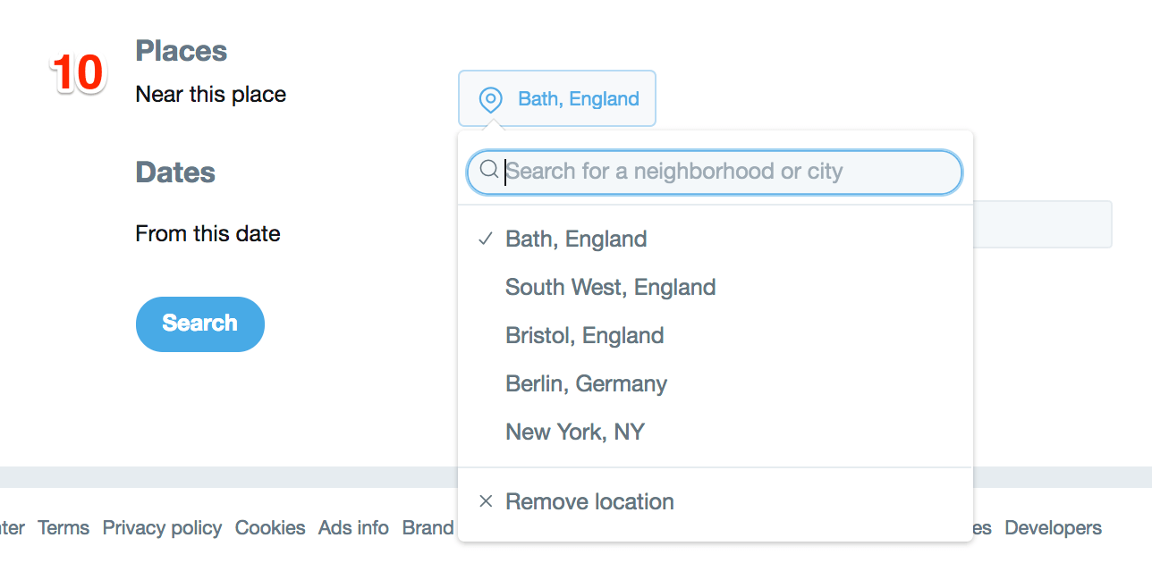 Dates Twitter Advanced Search