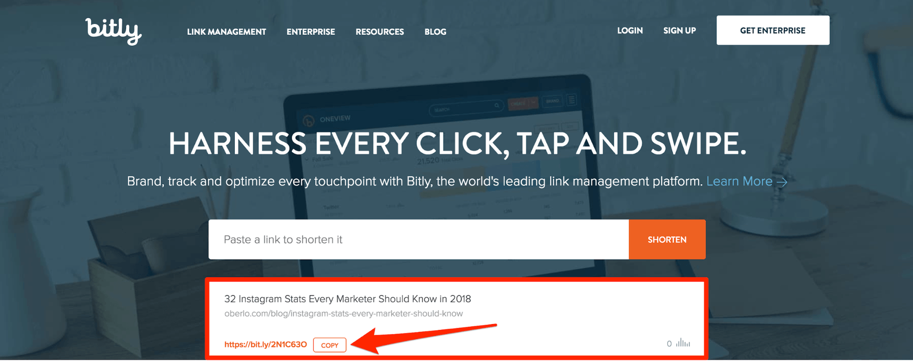 Bitly Copy Link