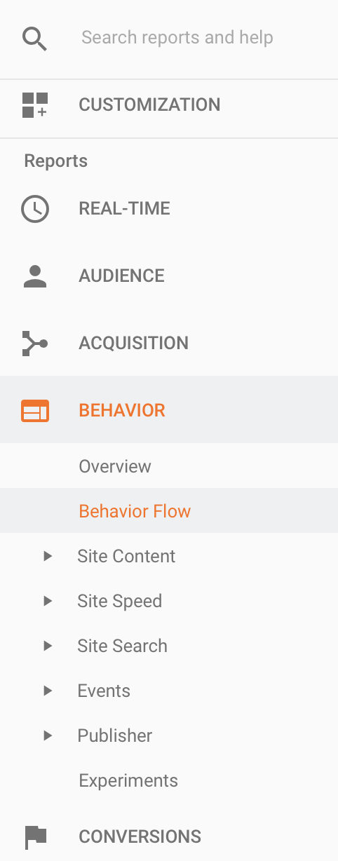 behavior reports google analytics