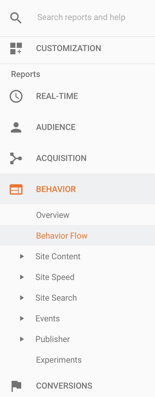 behavior reports google analytics