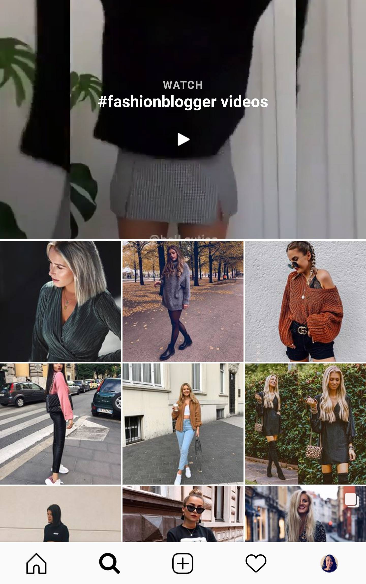 instagram seach fashion bloggers