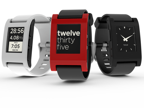 1,3, and 5: Pebble Smartwatches