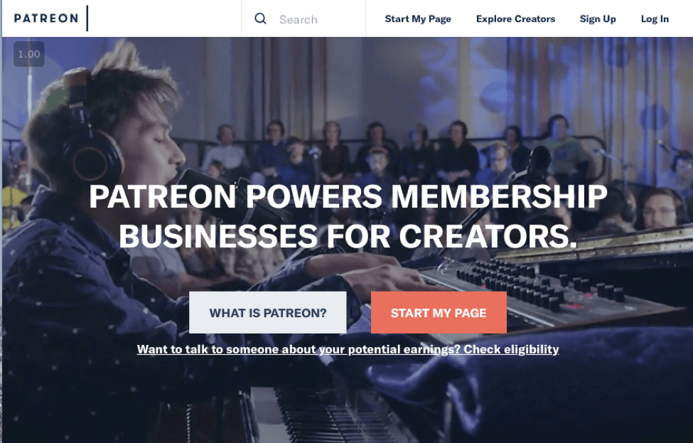 patreon crowdfunding sites