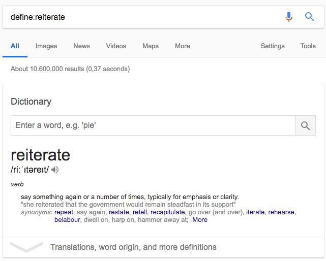 Google advanced search trick