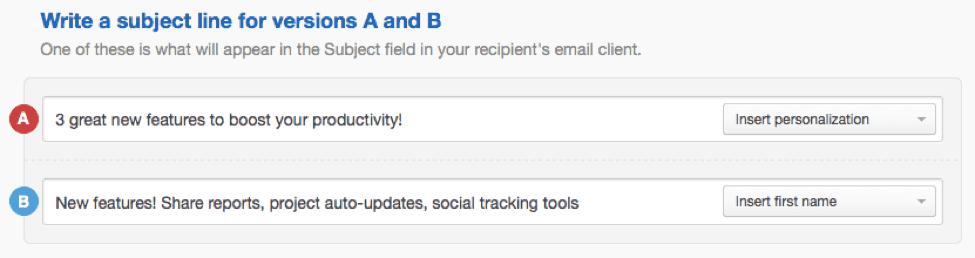 A/B testing process