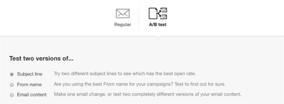 setting up an A/B test