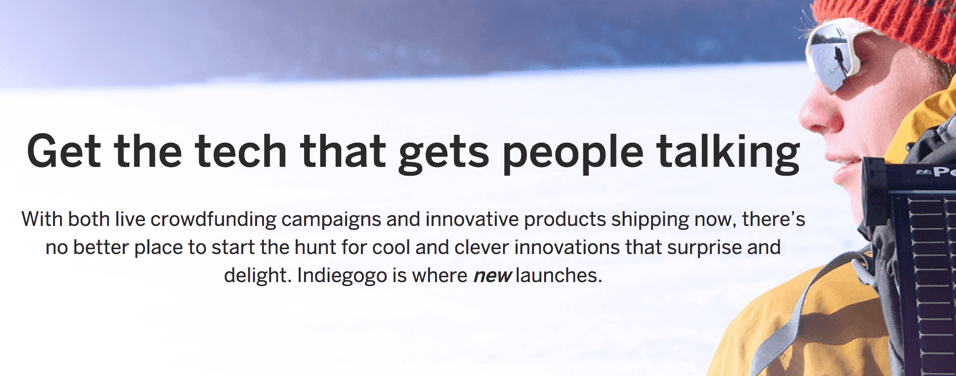 Indiegogo (rewards & equity)