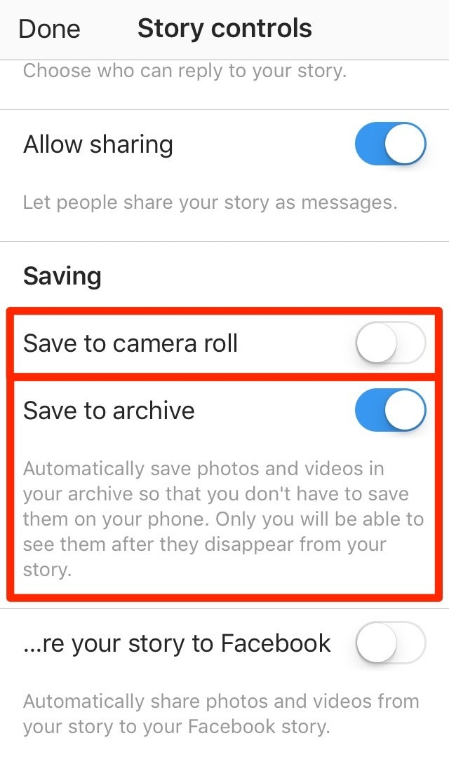Save to Stories