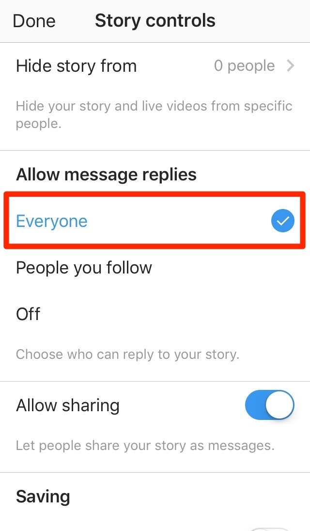 Instagram Stories Messages