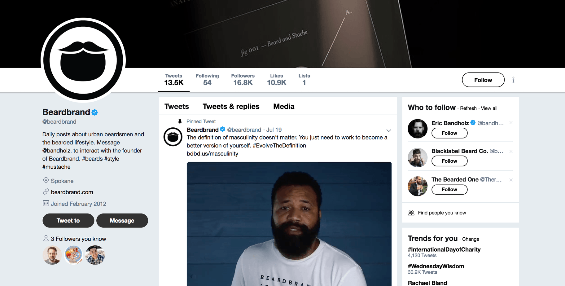 Beardbrand Twitter Profile