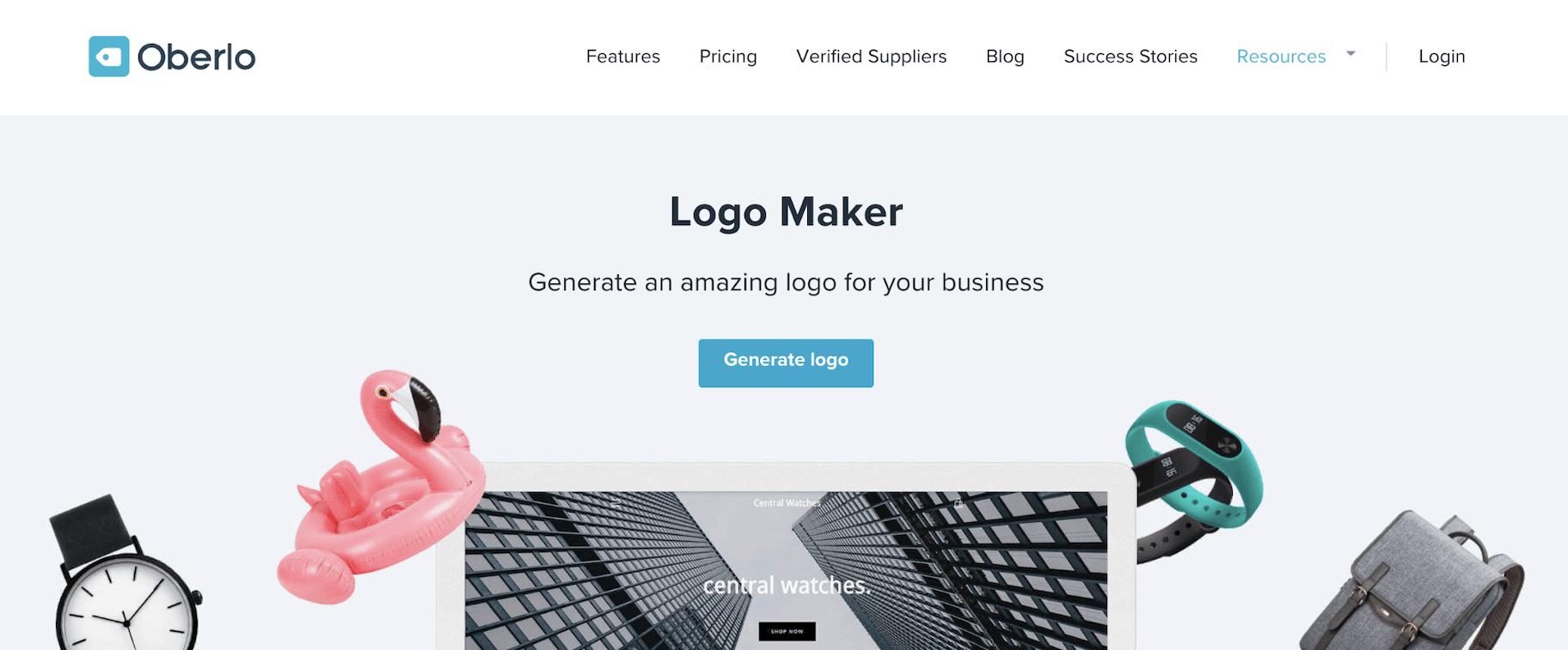 Oberlo Logo Maker