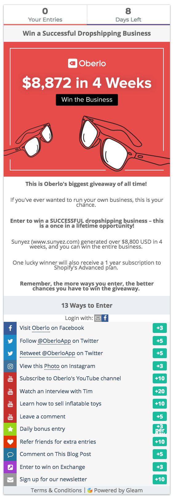 online marketing strategies giveaways