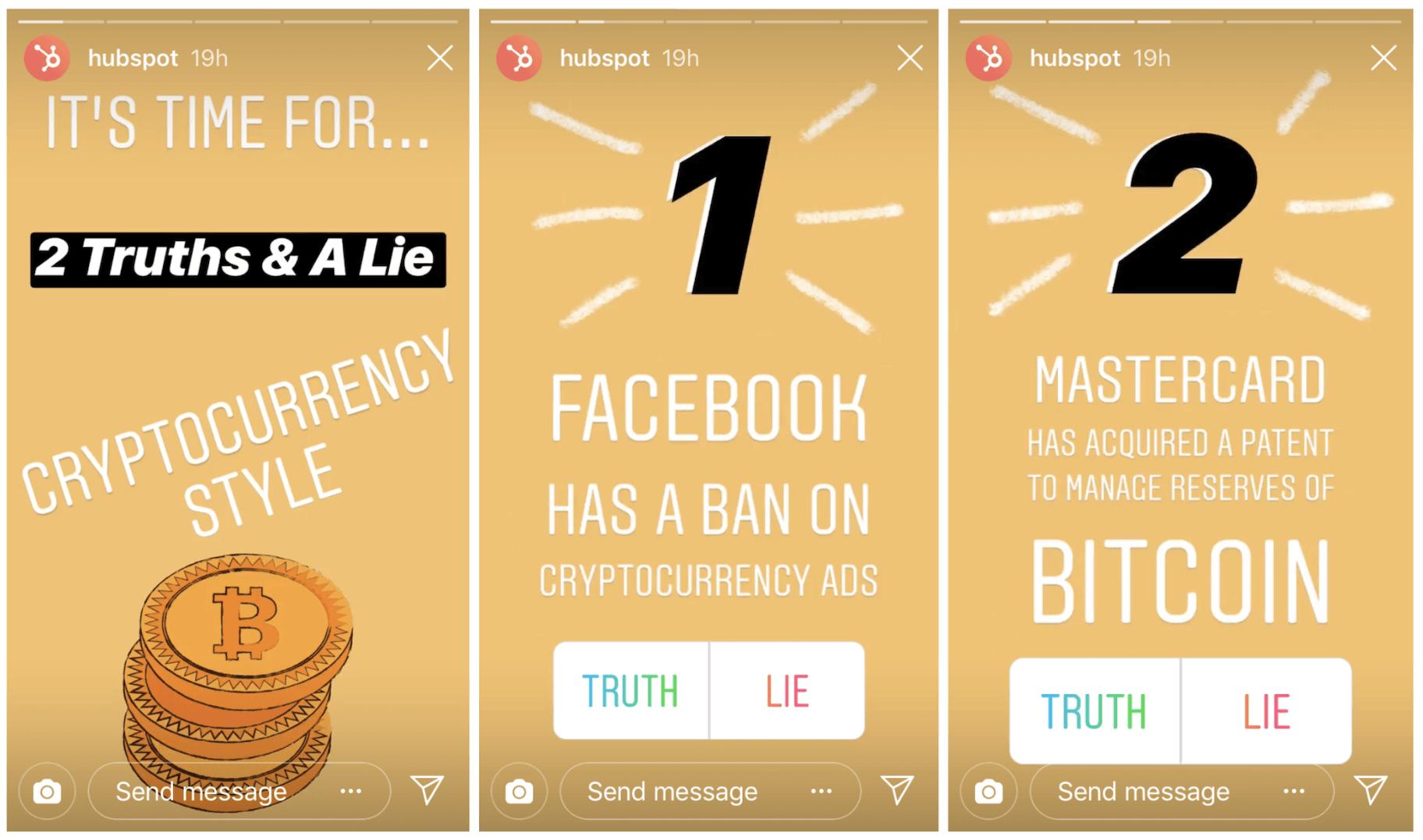 HubSpot Instagram Stories
